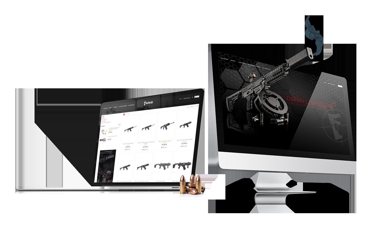 Crosby Interactive Firearm Web Designs