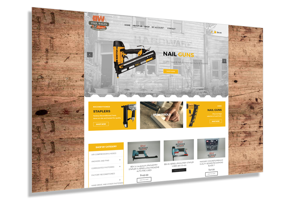 WordPress Louisville Web Design - DW Tool Sales Example