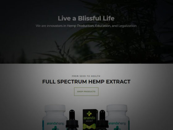 Crosby Interactive Custom Louisville Web Design Ananda Hemp