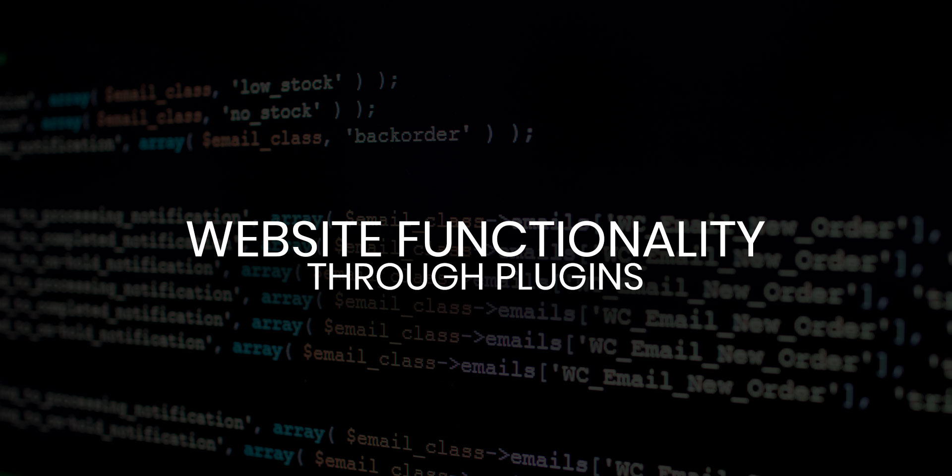 Website Functionality Through Plugins